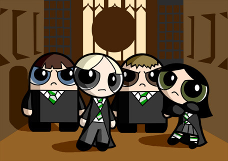 If Hogwarts was in the world of the Power Puff Girls