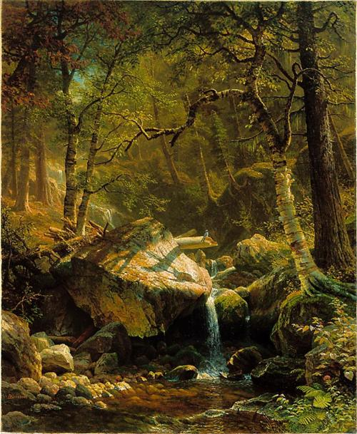 tatteredbanners:  Mountain Brook by Albert Bierstadt