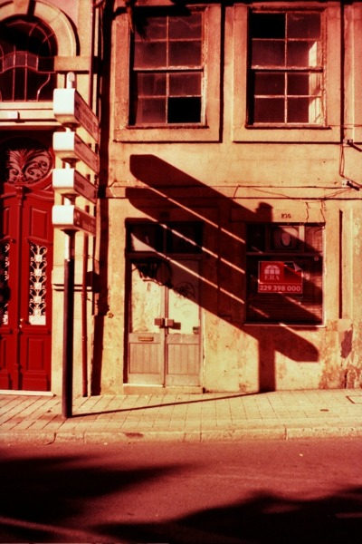 Cross-processed expired slide film. Shadows. Porto. by joao costa