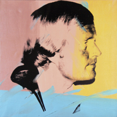 thewarholfactory:  Jack Nicklaus painted by Andy Warhol