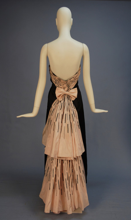 Evening dress by Claude Riha, date missing (1930's-50's?) France