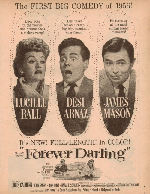 Forever Darling (1956) movie ad.