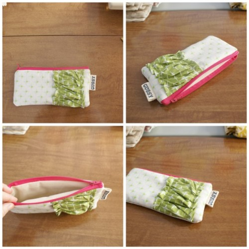 How to make a zippered pouch. Click through for a tutorial.