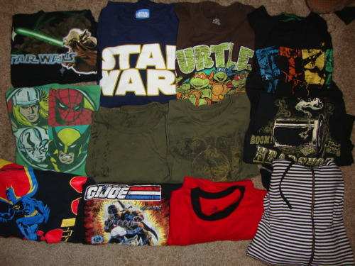 Some of the new shirts I picked up today at thrift stores! These will soon be turned into Shinshay Originals creations! They will not be avaliable for purchase online until after Art Outside! Get your own @ www.Shinshayoriginals.com