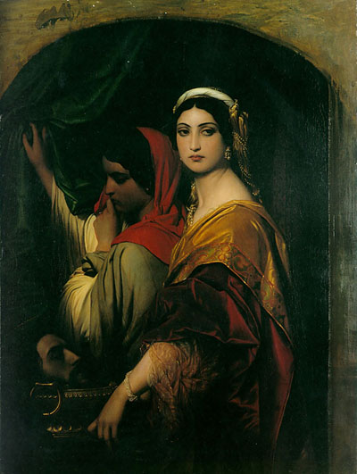 peril:  Herodias (1843), Wallraf-Richartz-Museum, Cologne| artwork by Hippolyte Delaroche