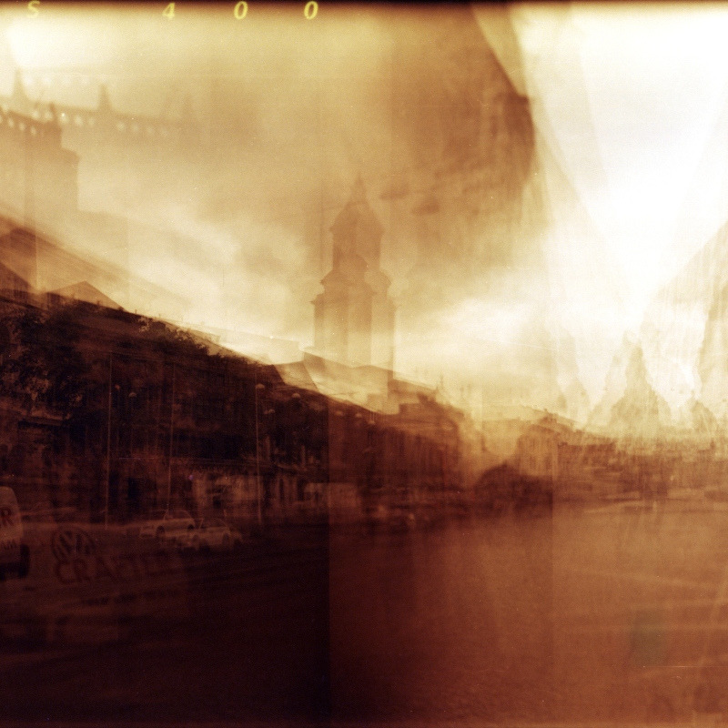 photo by Po'Lazarus@flickr  © Hans Bally 2011  City Abstracted  Holga 120GN multi-exposure  Lomo Redscale XR 50-200  Scan from negative