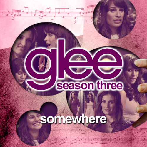 legleekcestchic:    Alternative Album Art - Season 3 - Glee Somewhere FULLSIZE at DA (800 x 800 px) Right Click on a song —> Get info —> 'Artwork' tab —> Copy and paste this artwork! —> More Album art! <—  *updated with fullsize link on Deviant art