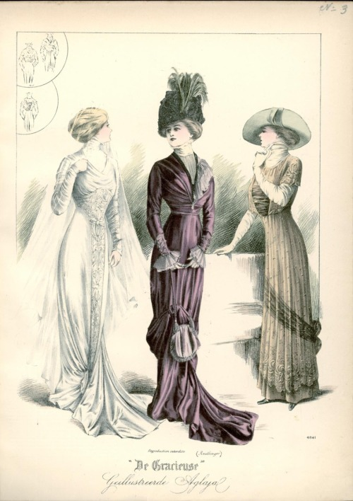 Dresses, 1910 the Netherlands, De Gracieuse