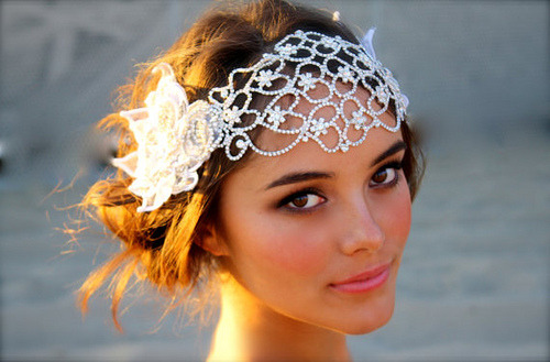 bridalsnob:  {Trend Alert} Wedding Juliet Cap