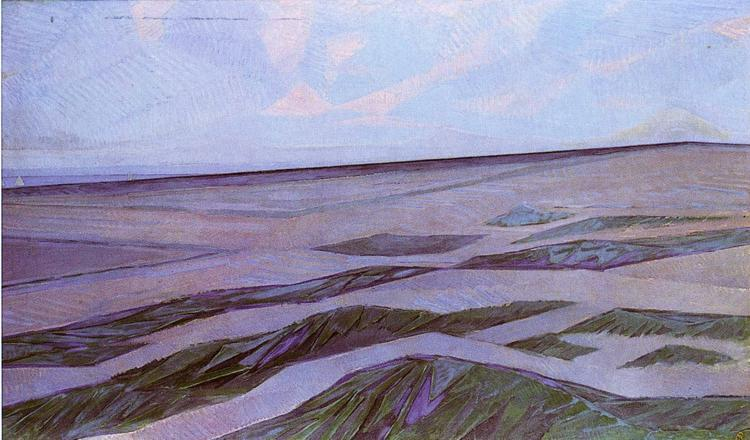 Piet Mondrian: Dune Landspace, 1910-11. Oil on canvas.