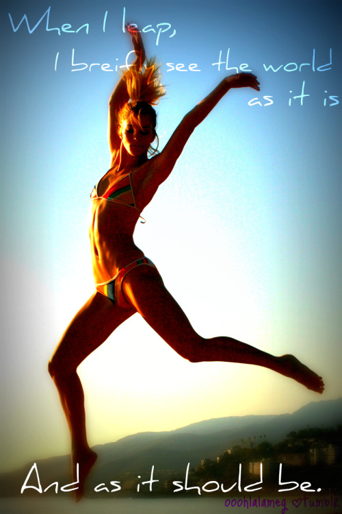 Heather Morris. Jump.  ©ooohlalameg.tumblr