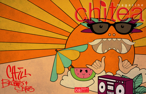 CHILL BROTHERS AND SISTERSCHI TEA MAGAZINE| 2011DIGITAL ILLUSTRATIONBY: DK KEO  This is a graphic I did for Chi-Tea magazine, a publication I joined my freshman year at Columbia College and do not regret this choice.  If you're on Columbia College campus pick one up when we release it for more info on the piece I did!  If you don't go to Columbia but would like this issue of Chi-Tea leave me a message in my inbox or email if you have it!