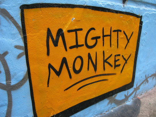 Mighty Monkey - Brick Lane Graffiti by Gillet123 on Flickr.
