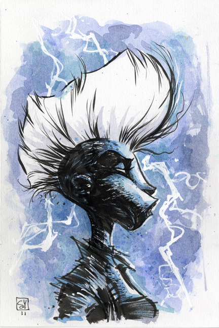 STORM Sketch by Skottie Young Via http://www.skottieyoung.com/