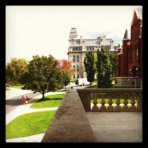 callmemanuh:  Hey Cuse, your orange (leaves) is showing (Taken with instagram)