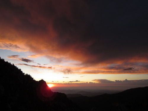 Sunset while climbing down from Tahquitz Peak near Idyllwild, California.