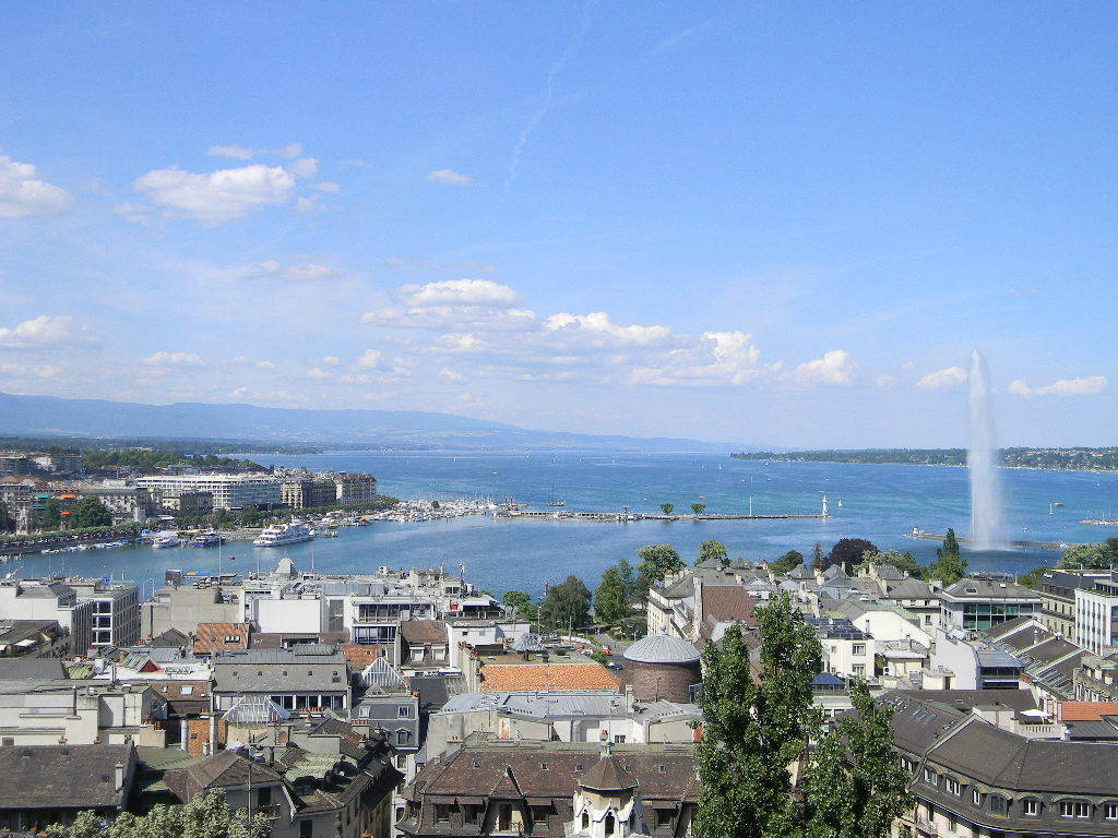 A view over Geneva, Switzerland