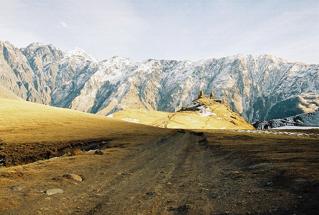 | ♕ |  Road to Trinity Church - Kazbegi, Georgia  |  by © Dasha Riabchenko | via ysvoice