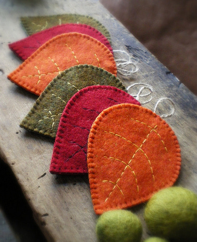 cajunmama:  fall coasters (by lilfishstudios)