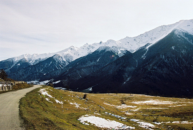 | ♕ |  Colors of winter - Caucasus, Georgia  | by © Dasha Riabchenko | via ysvoice