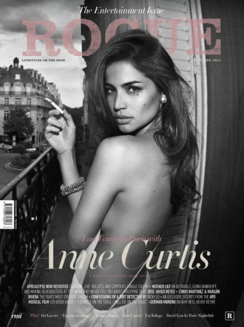 The very fun and wacky Anne Curtis sizzling in Philippines' October issue of Rogue.