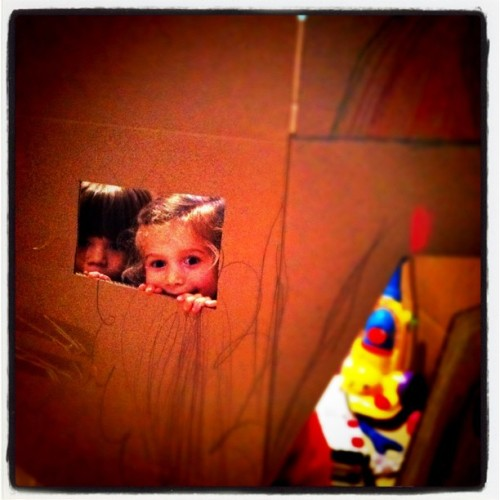 Fun in a cardboard box (Taken with instagram)