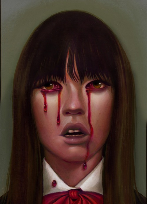 xombiedirge:  GOGO by Steven Daily Part of the upcoming 'Quentin Vs. Coen: Round 3' art show presented by Spoke Art. I've tried to score a print from the QvsC series and everytime I've failed miserably. The pieces shown so far for this round have been nothing short of stunning so I'm more determined than ever this time. Still don't fancy my chances though.