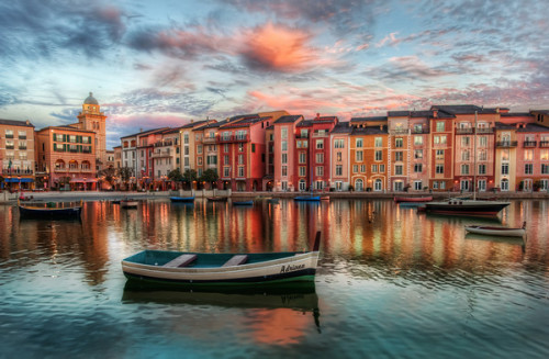 3blondmice:  The Bay at Portofino (by Trey Ratcliff)