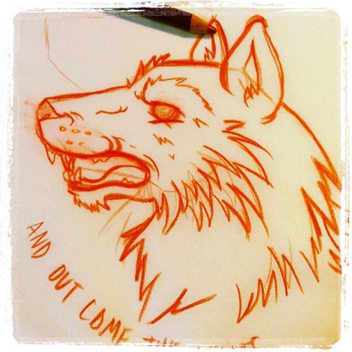 And out come the wolves…. idea sketch.. #sketch #wolf #rancid (Taken with instagram)
