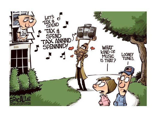 Obama pulls a Lloyd Dobler Eric Allie, copyright 2011 Cagle Cartoons
