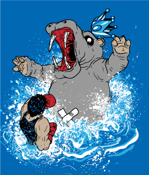 Wrong Hippo - by Jonah Block  T-shirts and stickers on sale @Redbubble