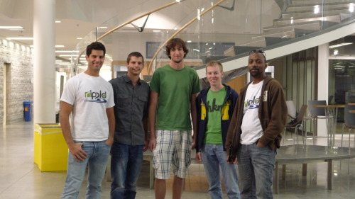 Pictured from L-R: Rippld team member Lander Coronado-Garcia, Rippld Hackathon contestant Joe Romeo from CSE Scholars; contestant Mark Gordon; contestant Kevin Owen from Eta Kappa Nu (HKN) Honor Society; Rippld team member Will Fobbs Rippld's Intercollegiate Hackathon was a great event. Despite some  sleepy eyes at 9:30AM on a Saturday, students from Michigan State University, Lawerence Tech,  and University of Michigan gave the solution their best shot. In the end Mark Gordon leveraged  his impressive hacking abilities and experiences from previous  coding challenges to prevail, taking home a total of $600 in winnings!  Thanks to Joe and Kevin again for helping us coordinate the event.