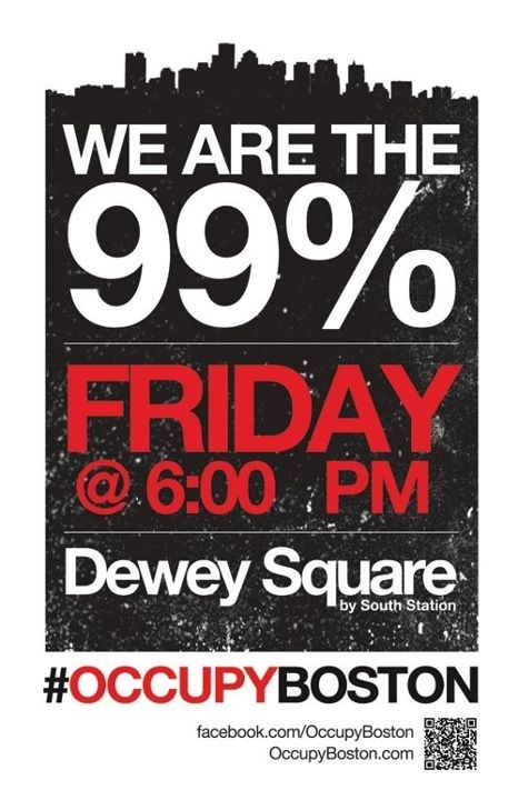 socialismartnature:  #OccupyBoston | Friday, 6pm, Dewey Sq (South Boston)