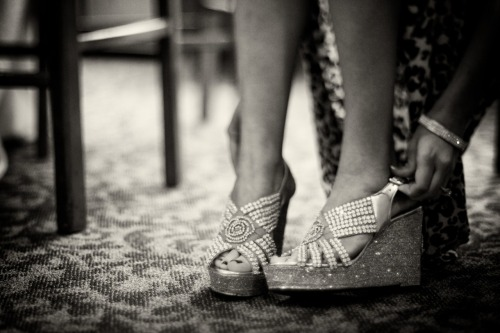 Wedding photo of the day, it's all about the shoes!