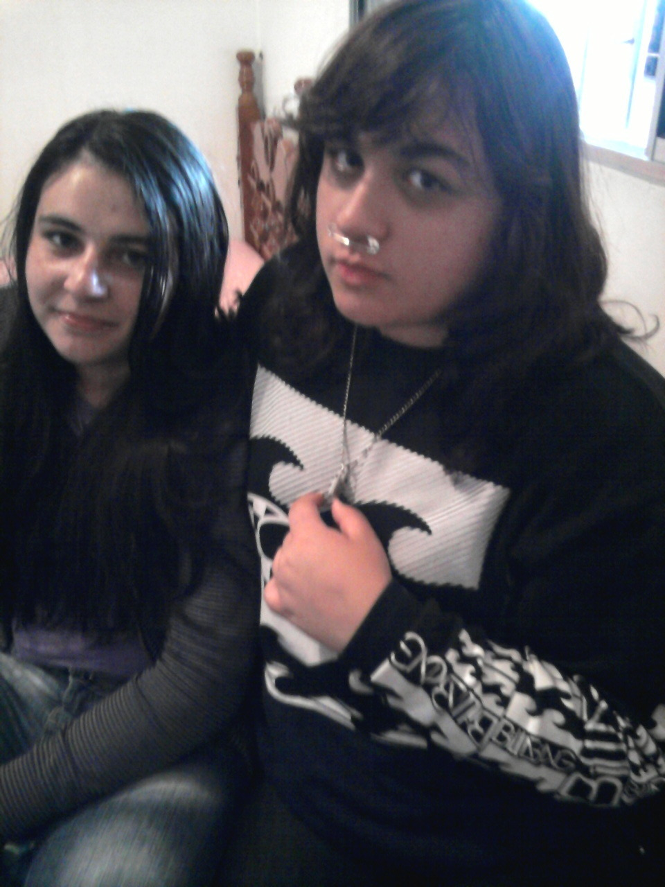 par4noid:  self septum piercing, ahahahahaha me and my baby <3333