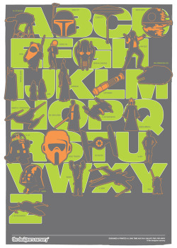 Star Wars Print (Grey, Green, Orange)