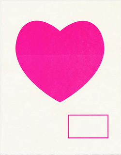 A simple heart poster with room for a message. So sweet. (via Lovely At Your Side)