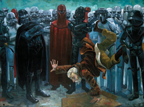 lulubonanza:  Vader got served Drawn By Aaron Jasinski