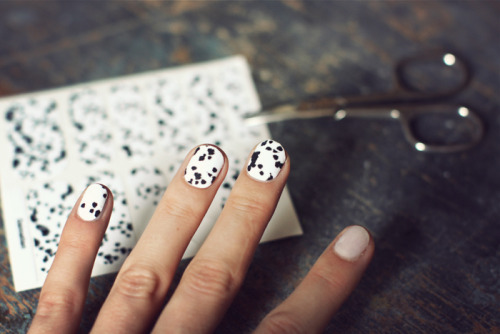 The best of my favourite blogs today: Dalmation nails by 5inchandup. Must try to DIY this!
