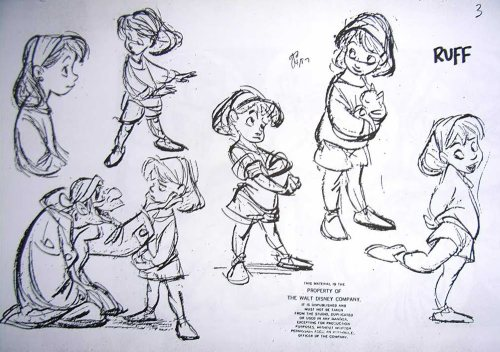 Jenny model sheet, by Glen Keane.