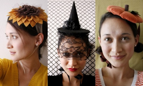 DIY Halloween or Any Time Hats  - The Sunflower, Witch and Pumpkin Hats. Guest Post by  deliacreates who has written really easy to follow and detailed tutorials for these hats on Project Run & Play here.