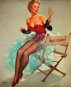 beautyisalightintheheart:  Miss Sylvania by Gil Elvgren