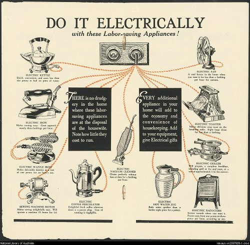 ~ The Spirit of Progress: Electricity the Modern Way, September 1932via National Library of Australia(click to enlarge)