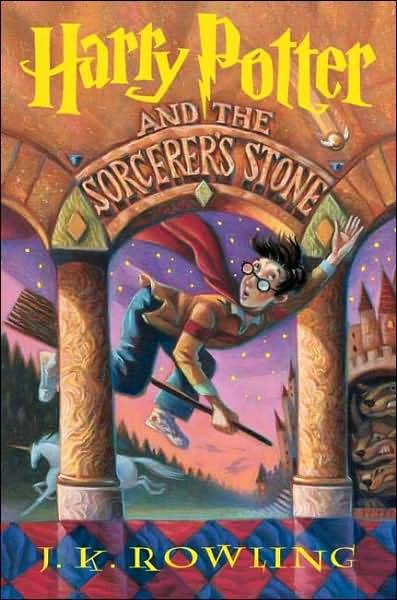 coverspy:  Harry Potter and the Sorcerer's Stone, J.K. Rowling (M, under 12, orange raincoat, NYPL copy, captivated, M15 bus) http://bit.ly/nMIYMA