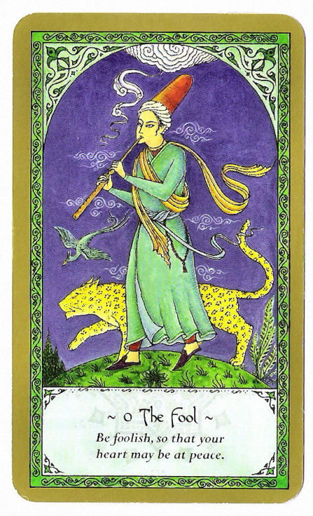 My Bohemian Heart revibrahim:  The Fool, from the Rumi Tarot Deck.