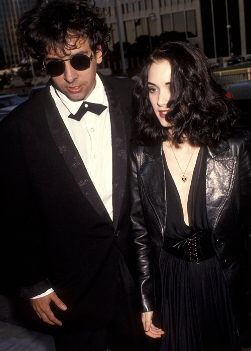 Tim Burton and Winona Ryder, 1991.