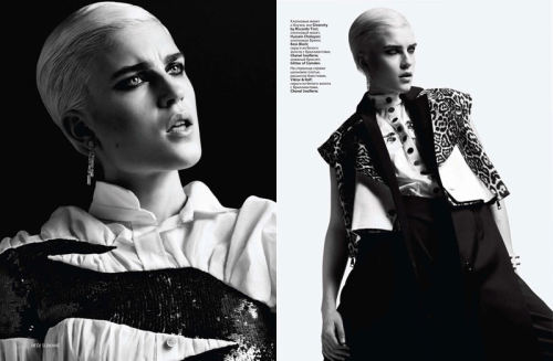Jana Knauerova by Hedi Slimane for Vogue Russia