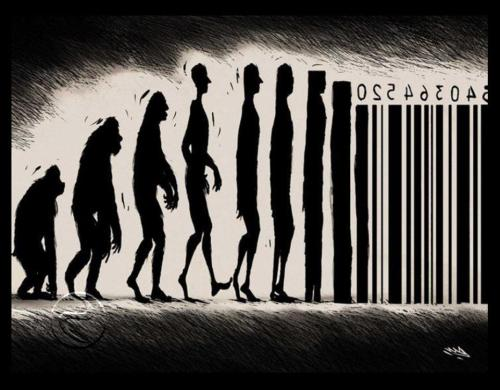We evolve into a product of society.