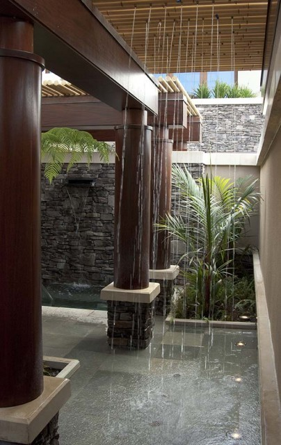 Marvelous tropical outdoor shower (via Kapalua Bay - tropical - bathroom - hawaii - by Philpotts Interiors)
