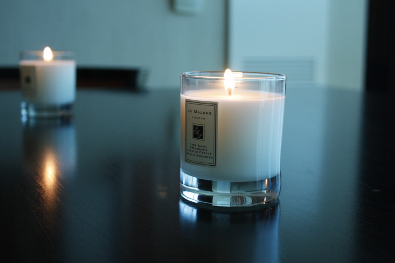 Jo Malone - Lime Basil & Mandarin burning at the Dom Rebel Threads showroom